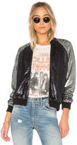 Lovers + Friends x REVOLVE The Sequin Bomber in Blue. - size L (also in M,S,XL,XS,XXS)