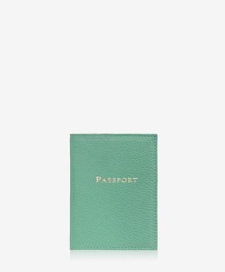 GiGi New York Passport Case, Robin's Egg Blue Goatskin
