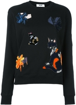 MSGM Cat Patch Sweatshirt