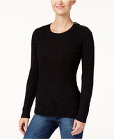 Charter Club Petite Cable-Knit Sweater, Only at Macy's