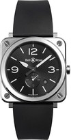 Bell & Ross Brsblcst Aviation steel and rubber watch