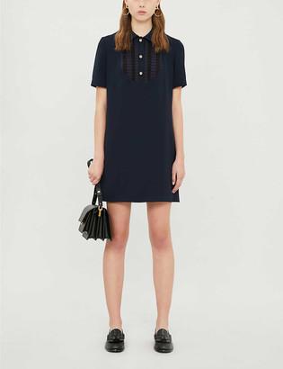 Claudie Pierlot Rayannah crepe mini shift dress