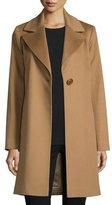 Fleurette Wool Single-Button Coat, Vicuna