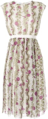 Giambattista Valli Floral Print Day Dress