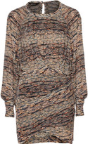 Isabel Marant Ellos burnout-effect velvet and printed chiffon dress