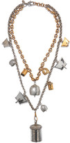 Alexander McQueen Silver And Gold-tone Necklace - one size