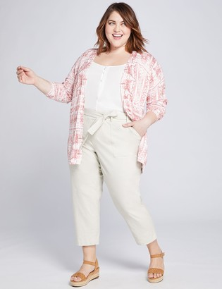 Lane Bryant Pull-On Belted Soft Crop Pant