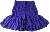Saint Laurent Purple Silk Skirt for Women