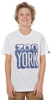 Zoo York New Boys Kids Boys Scribe Tee Crew Neck Short Sleeve Cotton White