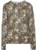 Equipment Sloane floral-print cashmere sweater