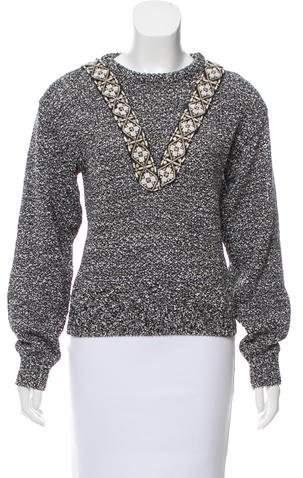 Altuzarra Embellished Metallic Sweater