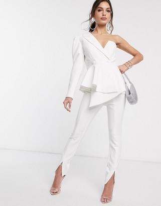 Asos Design DESIGN slim suit trousers-White