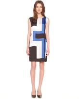 Michael Kors Layered Printed Sleeveless Dress
