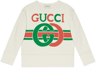 Gucci Children's sweatshirt with InterlockingG