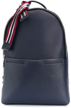Calvin Klein striped webbed ribbon backpack