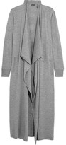 Splendid Durango Draped Knitted Cardigan - Gray