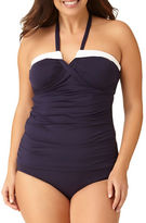 Anne Cole Womens Plus Color Blast Bandeau Tankini