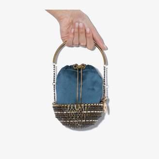 Rosantica blue and gold tone Kingham bracelet bag