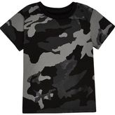 River Island Mini boys black metallic camo T-shirt