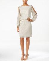 MSK Cold-Shoulder Embellished Blouson Dress