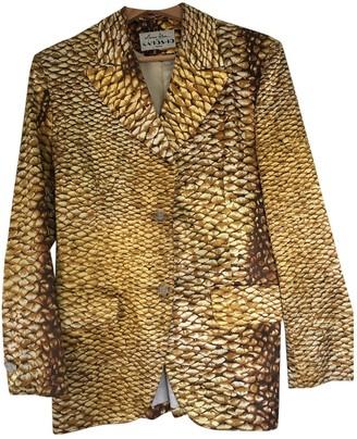 Martine Sitbon Gold Silk Jacket for Women Vintage