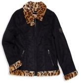 Urban Republic Girl's Bonded Faux Fur-Trimmed Jacket