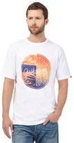 Quiksilver White Circle Logo Print T-shirt