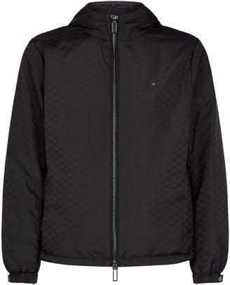 Emporio Armani All-Over Logo Lightweight Jacket