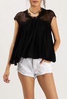 Azalea Sleeveless Lace Applique Top