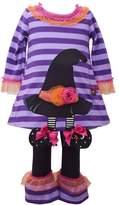 Bonnie Jean Baby Girl Witch Hat Dress & Ruffled Leggings Set