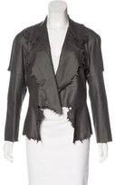 Issey Miyake Cutout-Accented Distressed Jacket