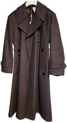 Maison Margiela Purple Cotton Trench coats