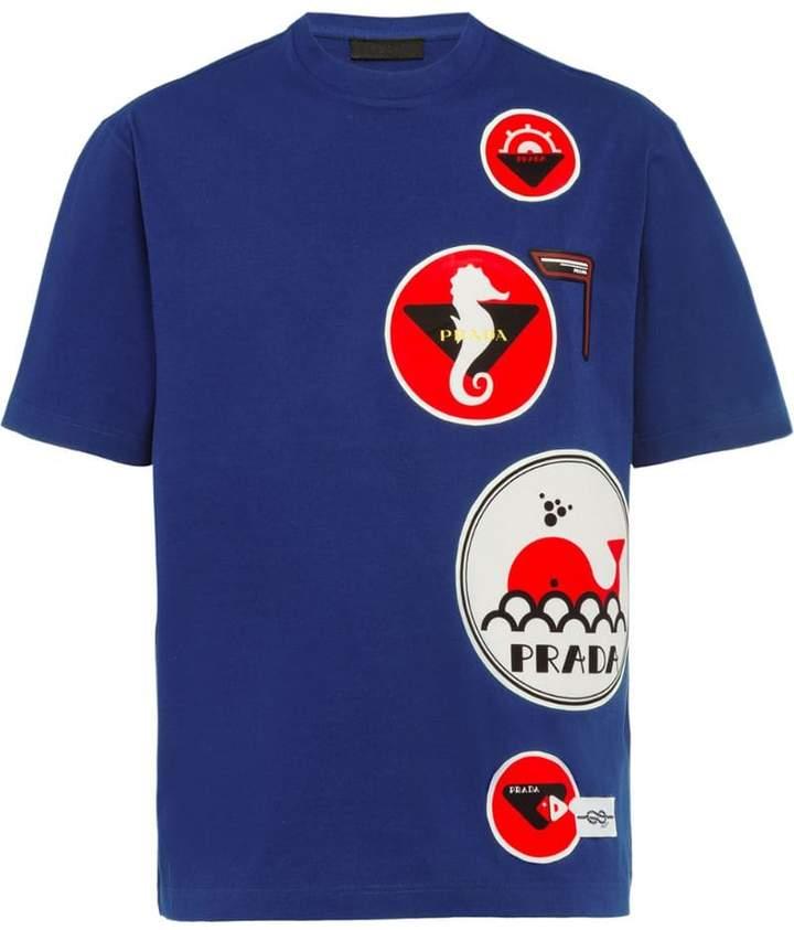 7ebd0359b Prada Blue T Shirts For Men - ShopStyle UK