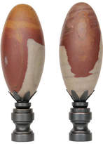 One Kings Lane Vintage Shiva Lingam Stone Lamp Finials