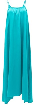 Loup Charmant Amelia Tie-straps Silk Maxi Dress - Green