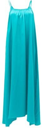 Loup Charmant Amelia Tie-straps Silk Maxi Dress - Womens - Green
