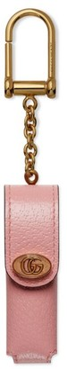 Gucci Leather Single Porte-Rouges Keychain