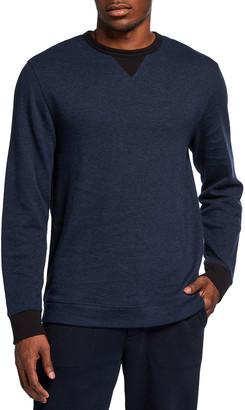 Vince Men's Double-Knit Crewneck Pullover Sweatshirt