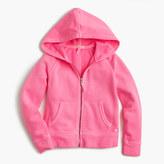 J.Crew Girls' wafer terry zip hoodie