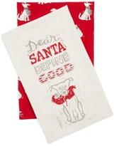 Primitives By Kathy Dear Santa Set Of 2 Dish Towels