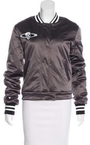 RtA Denim Embellished Bomber Jacket w/ Tags
