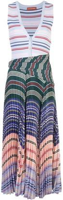 Altuzarra Milkweed striped pleat dress
