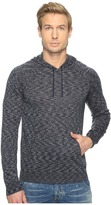 John Varvatos Space Dyed Pullover Hoodie Sweater with Metal Tipped Drawcord Y1477T1B