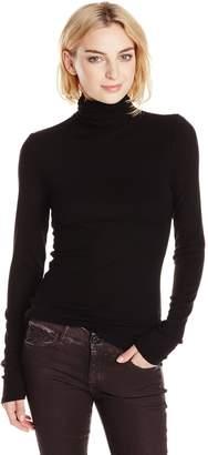 Michael Stars Women's 2x1 Ribbed Long Sleeve Turtleneck