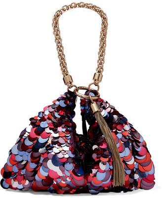 Jimmy Choo Callie Paillette-embellished Suede Shoulder Bag - Pink