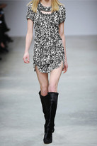 Isabel Marant Quilame printed silk-crepe mini dress