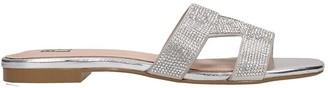 Bibi Lou Flats In Silver Tech/synthetic