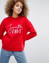 Monki Santas Fave Holidays Sweatshirt
