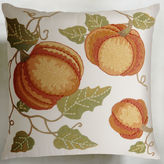 Pier 1 Imports Embroidered Orange Pumpkin Patch Pillow