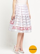 Ted Baker Burnout Window Box Skirt - Baby Pink